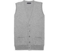 Slim-fit Mélange Merino Wool Vest