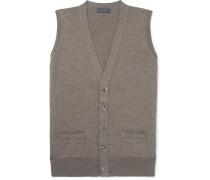 Slim-fit Mélange Merino Wool Sweater Vest