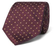 8cm Floral Silk-jacquard Tie