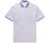 Slim-fit Striped Cotton And Linen-blend Polo Shirt