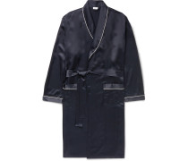 Piped Silk Robe