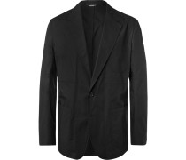 Black Unstructured Cotton-poplin Blazer