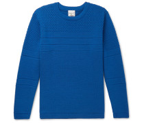 Mentor Panelled Merino Wool Sweater - Royal blue