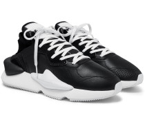 Kaiwa Suede-Trimmed Leather and Neoprene Sneakers