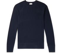Waffle-Knit Pima Cotton-Jersey Pyjama Top