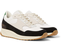 Track Vintage Nubuck And Mesh Sneakers - White