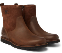 Madson Shearling-lined Waterproof Leather And Suede Boots - Tan