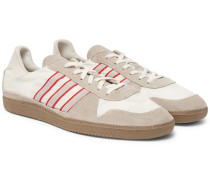 Hulton Spezial Leather-trimmed Shell And Suede Sneakers - Neutral