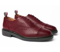 Cap-Toe Pebble-Grain Leather Oxford Shoes