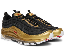 Air Max 97 Qs Faux Leather And Mesh Sneakers - Black