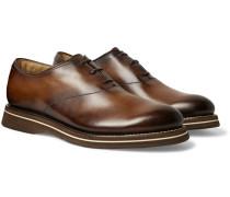 Alessio Padova Venezia Leather Oxford Shoes - Brown