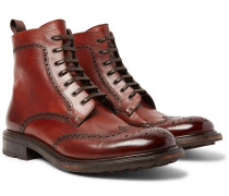 Felix Polished-leather Brogue Boots