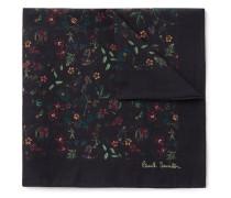 Floral-Print Cotton-Voile Pocket Square