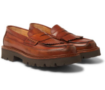 Leather Kiltie Loafers - Brown