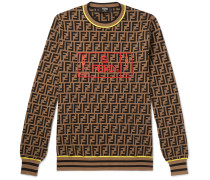 Logo-Intarsia Knitted Sweater