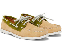 Downeast Two-tone Suede Boat Shoes - Sand