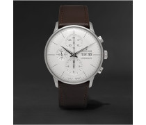 Meister Chronoscope 40mm Stainless Steel and Leather Watch, Ref. No. 027412001