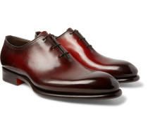 Burnished-leather Oxford Brogues