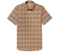 Checked Stretch-Cotton Poplin Shirt