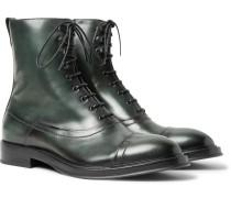 Eris Bergen Leather Boots - Dark green