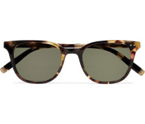 Loren Round-Frame Tortoiseshell Acetate Sunglasses
