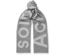 Toronty Oversized Logo-intarsia Wool-blend Scarf - Gray