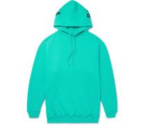 Oversized Logo-print Fleece-back Cotton-blend Jersey Hoodie