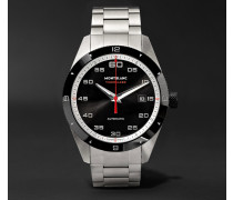 Timewalker Date Automatic 41mm Stainless Steel And Ceramic Watch - Black