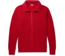 Snuggler Wool-fleece Zip-up Sweater