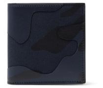 Valentino Garavani Camouflage-print Leather And Canvas Wallet