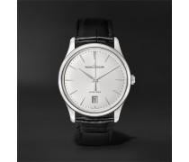 Master Ultra Thin Date Automatic 39mm Stainless Steel and Alligator Watch