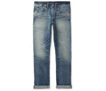 Distressed Selvedge Denim Jeans