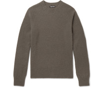 Slim-fit Brushed-cashmere Sweater - Gray