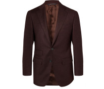 Burgundy Wool And Cashmere-blend Suit Jacket - Burgundy