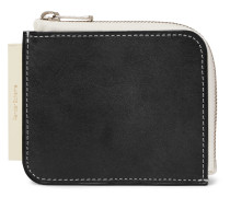 Colour-Block Leather Zip-Around Wallet