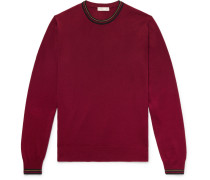 Contrast-tipped Wool Sweater