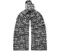 Logo-Intarsia Wool-Blend Scarf