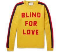 Slim-fit Intarsia Wool Sweater