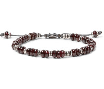 Templar Sterling Silver And Garnet Bracelet - Red