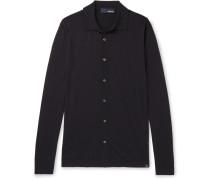 Wool, Silk And Cashmere-blend Shirt - Navy