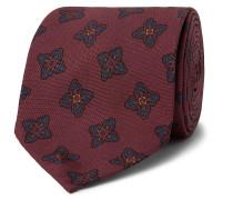 7.5cm Floral-print Silk-faille Tie