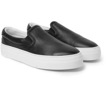Garda Full-Grain Leather Slip-On Sneakers