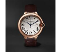 Ballon Bleu De Cartier Automatic 42mm 18-karat Pink Gold And Alligator Watch