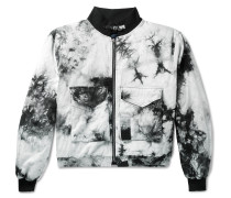 Tie-Dyed Cotton-Twill Bomber Jacket