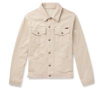 Washed Stretch-cotton Corduroy Jacket - Ecru