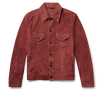 Suede Trucker Jacket - Brick