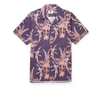 Miyagi Camp-Collar Printed Cotton Shirt