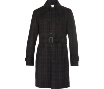 Southgate Checked Wool-twill Trench Coat