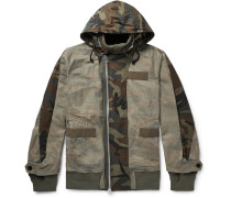 Panelled Camouflage-print Cotton Jacket