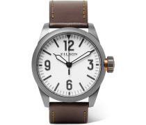 Field Stainless Steel And Leather Watch - White
